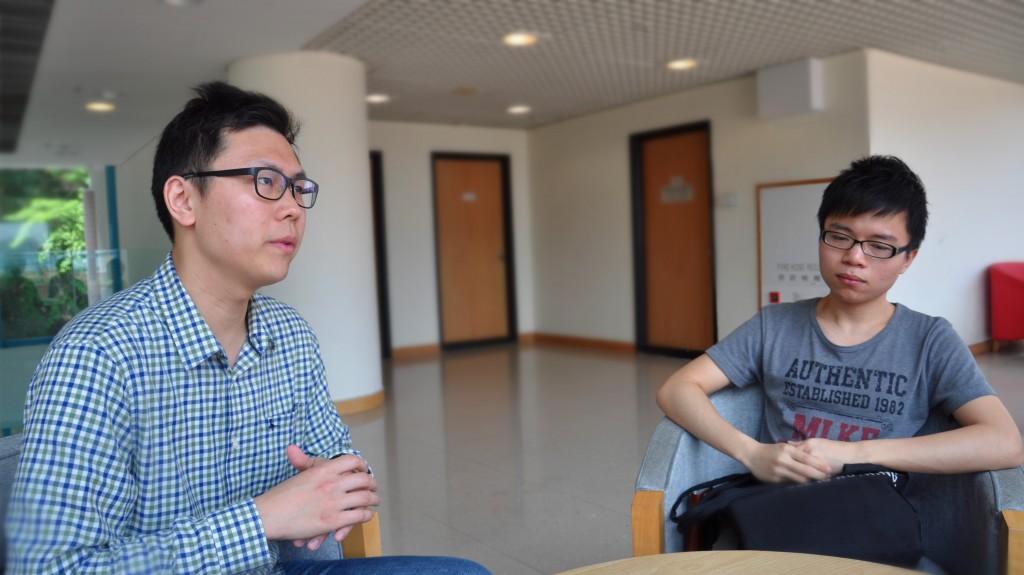 何光熹(左)與彭梽樃(右)是WeWah音樂家的幹事會中少數懂得音樂的人,因此亦身兼導師。