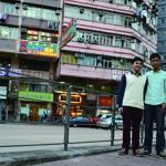 青年新政成員郭嘉榮(左)在大角咀大南區長大,與黎耀駿(右)於大角咀已開展地區工作。