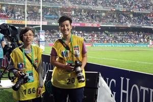 體路創辦人Carrie(左)和徐飛(右),憑著對本地體壇的熱誠創辦體路。(鍾煥露攝)