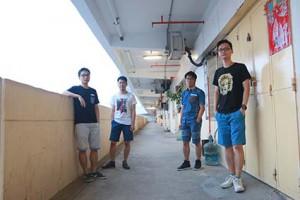 FanPiece四位創辦人:(左起)張振凱、梁文川、梁文超、常凱。(陳嘉欣攝)