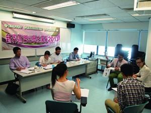 2013年新界區傑出學生選舉面試。(受訪者提供)