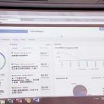 周敏儀以醫療保障計畫為例,展示社交監察系統,結果包括發帖數字(左),討論內容(中)及網民參與情況(右)。