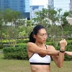 教練李婉芝小時候性格孤僻,養成做運動的習慣後逐漸變得開朗:「持續運動使女性變得正面和積極,散發真正的美麗。」(卜美銀攝)