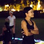 曾穎怡對運動服飾情有獨鍾,她透露今年共花費了約四千元添置運動裝備。(孫綺羚攝)