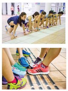 聶智敏(右三)每個星期皆會參與運動群組的訓練,她透露未來會積極備戰渣打馬拉松。(孫綺羚攝)