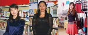 從左至右,分別為孟惠麗、吳秀娟、李德俏。(王瑾攝)