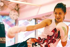 曾海蘭表示接觸泰拳後,手腳協調靈活得多,令她更有自信。 (江美琪攝)