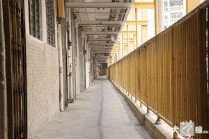 除了雙塔式樓宇外,華富邨亦有單邊長條型樓宇。(陳沅彤攝)