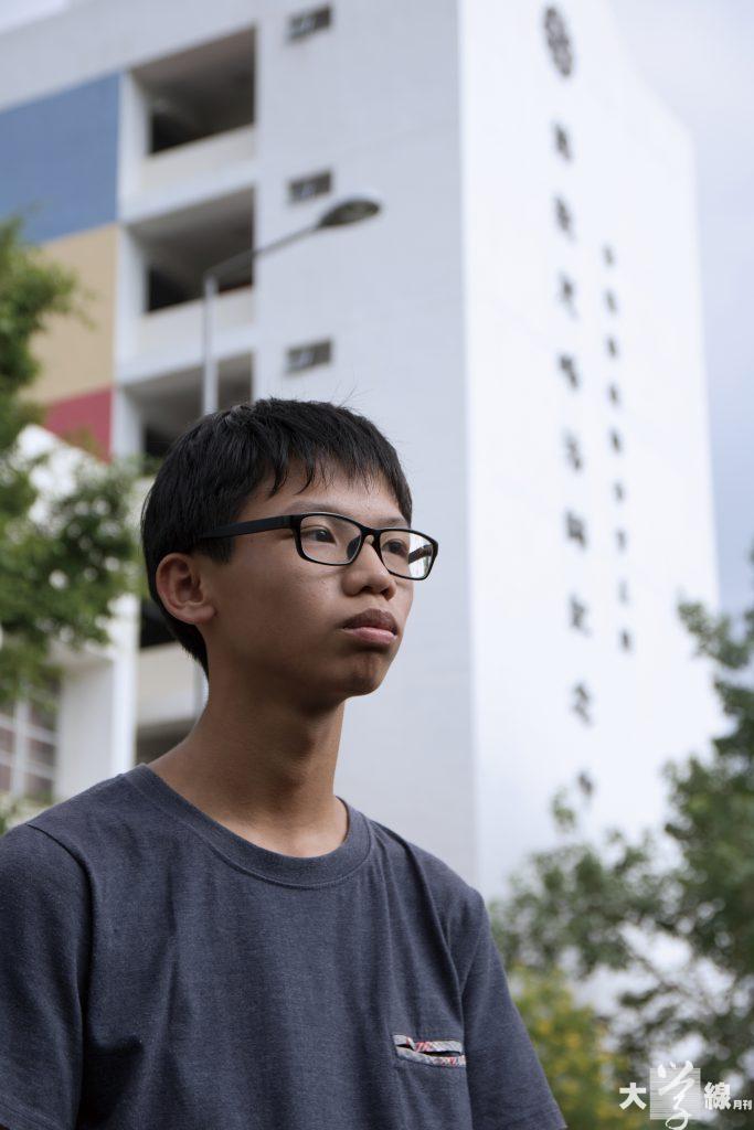 鍾翰林表示,在雨傘運動後,不少 人對學生組織失去信心。他認為學生 組織本身並沒有「光環」,市民支持 與否,只視乎組織的表現。(郭詠昕 攝)