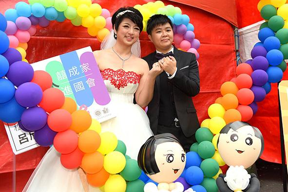 呂欣潔(左)與陳凌的婚禮(圖片由受訪者提供)