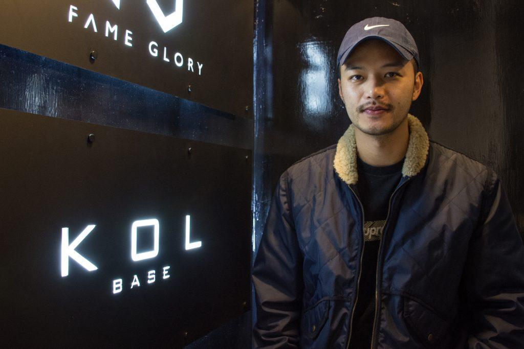 KOL經理人公司KOL Base的合夥人吳子軒表示,目前公司的利潤率高達三至五成。(關慧怡攝)