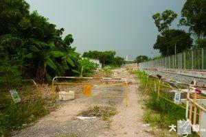 劉愛嬌的農地被倒泥後,有部分一直丟空,未有工程進行。 (區翠恩攝)