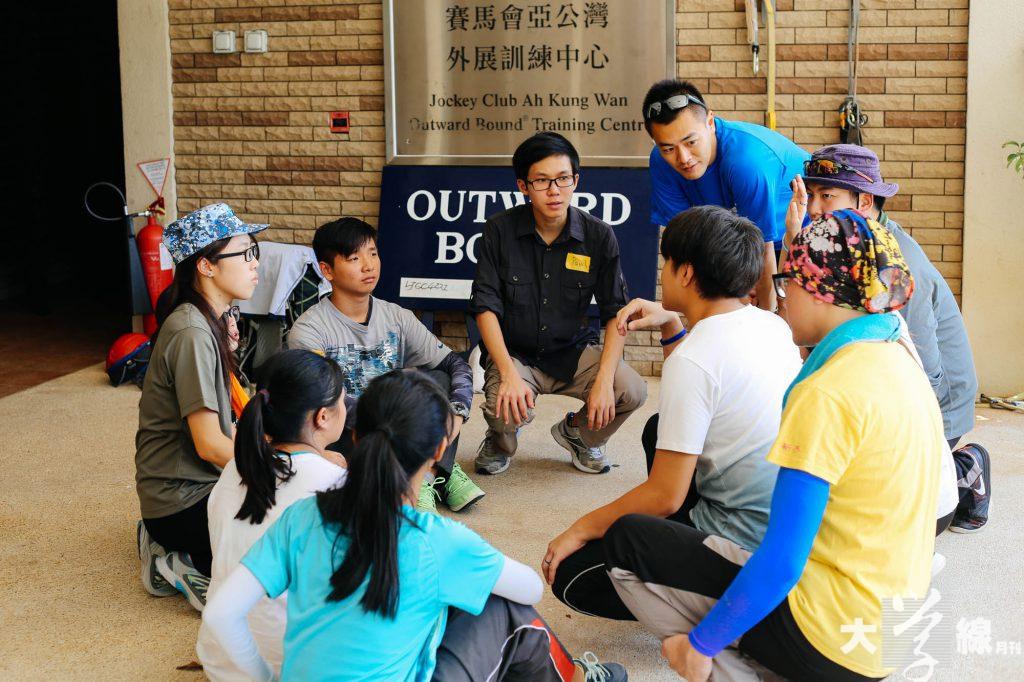 劉鳴煒在過去的暑假曾參與青年外展訓練,在活動中聆聽青年人對香港社會的看法。(受訪者提供)
